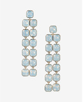 Express square stone waterfall earring