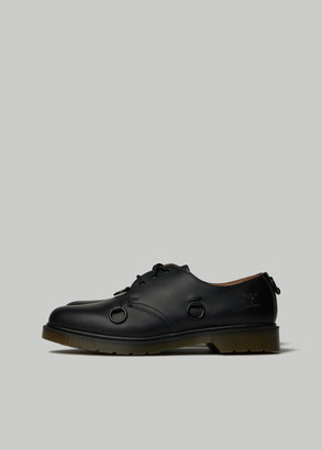 Raf Simons Men's Dr. Martens Low Shoes in Black Size 9 Calfskin Leather/Rubber/Nickel