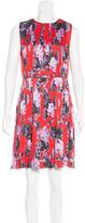 Jonathan Saunders Silk Pleated Dress