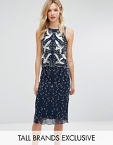 Frock and Frill Tall Frock And Frill Tall Premium Embellished 2 In 1 Shift Dress