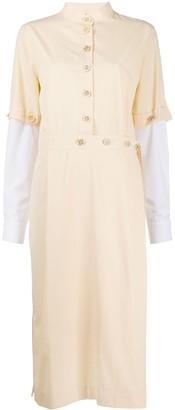 Marni detachable-sleeve midi shirt dress