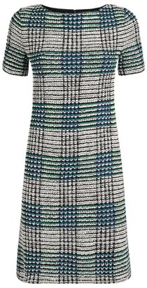 St. John Ribbon Plaid Knit Dress
