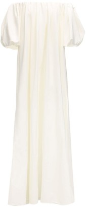 Sara Battaglia Off-the-shoulder Crepe Maxi Dress