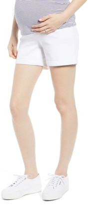 1822 Denim Rolled Hem Maternity Shorts