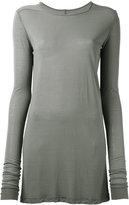 Rick Owens long-sleeved T-shirt - women - Silk/Viscose - 38