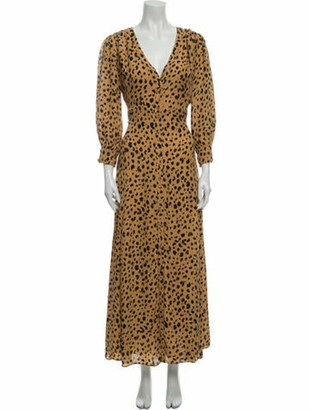 Nicholas Silk Long Dress Gold