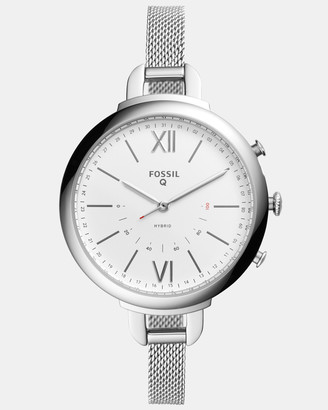 Fossil Hybrid Smartwatch Q Annette Silver-Tone