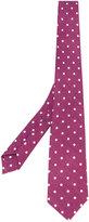 Borrelli - polka dot pattern tie - men - Silk/Linen/Flax - One Size
