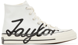 Converse White Signature Chuck 70 High Sneakers