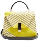 Valextra Iside Mignon embroidered-satin shoulder bag