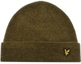 Lyle & Scott Racked Rib Beanie Hat Green