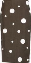 Marni Printed cotton and flax-blend skirt