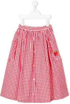 Sonia Rykiel Enfant Full Shape Gingham Print Skirt