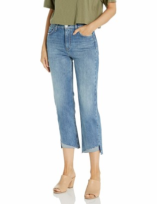Hudson Women's Remi High Rise Straight Leg Raw Hem Crop Jean