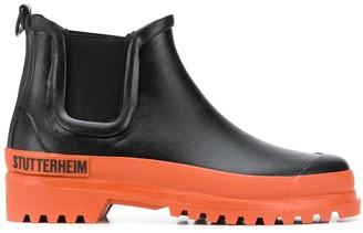 Stutterheim chunky two-tone Chelsea boots