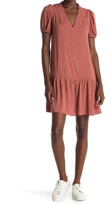 GOOD LUCK GEM V-Neck Short Sleeve Dress