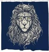 Sharp Shirter Lion shower curtain Threadless hipster art gift for boyfriend unique shower curtain
