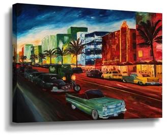 ArtWall Martina and Markus Bleichner Miami Ocean Drive Wall Art