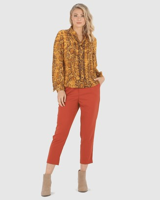 Privilege Women's Brown Evening Tops - Camilla Blouse - Size One Size, 8 at The Iconic
