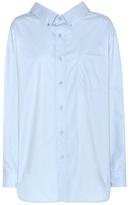 Balenciaga Swing Collar cotton shirt