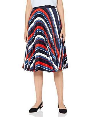 Gant Women's D1. Preppy Stripe Pleated Skirt Vintage Blue 2, 10 (Size: )
