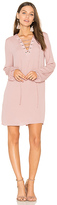 BCBGeneration Lace Up Dress in Pink