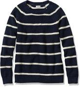 L.L. Bean Bean's Shaker-Stitch Pullover Crewneck Sweater, Stripe