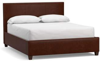 Pottery Barn Raleigh Square Leather Bed