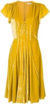 Altuzarra v-neck flared dress