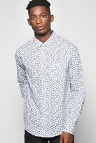 Boohoo Long Sleeve Leaf Print Shirt