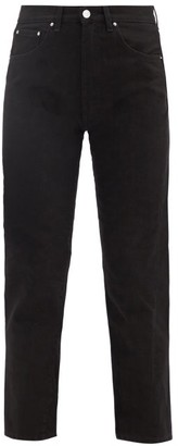 Totême Original Cropped Slim-fit Jeans - Black