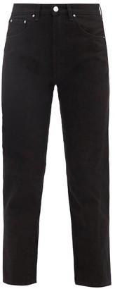Totême Cropped Slim-fit Jeans - Womens - Black