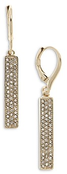 Ralph Lauren Ralph Micro Pave Bar Linear Drop Earrings