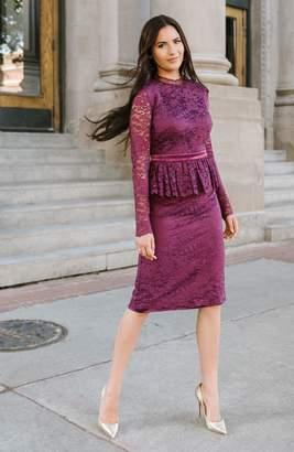 Rachel Parcell Cambridge Long Sleeve Lace Dress