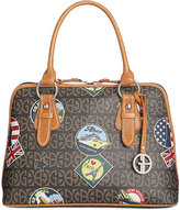 Giani Bernini Postcard-Print Dome Satchel, Only at Macy's