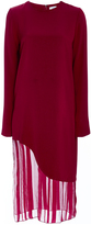 Prabal Gurung Satin Striped Silk Chiffon Dress