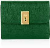 Henri Bendel Mini Turn Key Tri Fold Wallet