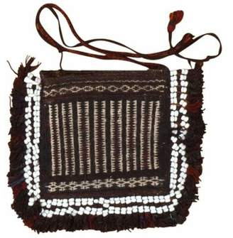Nazmiyal Collection Afghan Baluch Bag Antique Brown/Black Area Rug Nazmiyal Collection