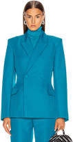 Balenciaga Waisted Jacket in Petrol Blue | FWRD