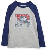 Ralph Lauren Slub Jersey Cotton Baseball T-Shirt, Size 5-7
