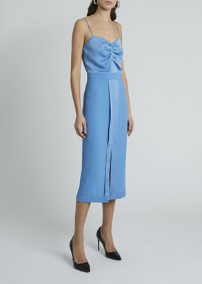 Givenchy Ruched Cami-Top Knee-Length Dress
