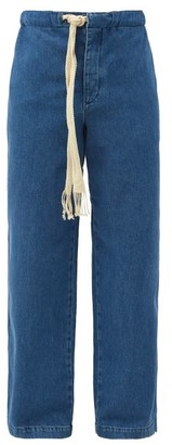 Loewe Drawstring Denim Relaxed-leg Jeans - Blue