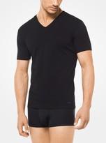 Michael Kors 2-Pack Stretch-Cotton V-Neck T-Shirt