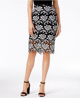Bar III Lace Pencil Skirt, Only at Macy's