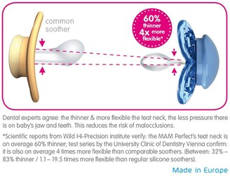 Mam Perfect Night Soother, Pack of 2, 12 months+