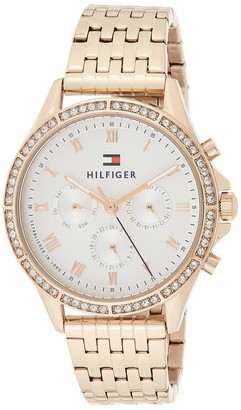 Tommy Hilfiger Womens Multi dial Quartz Watch with Rose Gold Strap 1781978