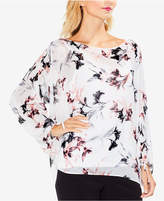 Vince Camuto Printed Bubble-Sleeved Blouse