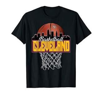 City Skyline Shirt Cleveland Basketball Cityscape Design T-Shirt