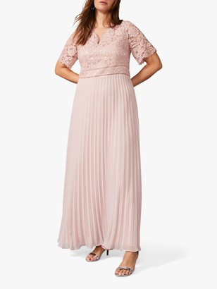 Studio 8 Ramona Lace Pleated Maxi Dress