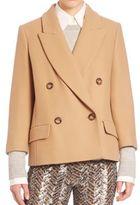 Michael Kors Long Sleeve Wool Coat